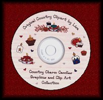 candle clipart on cd