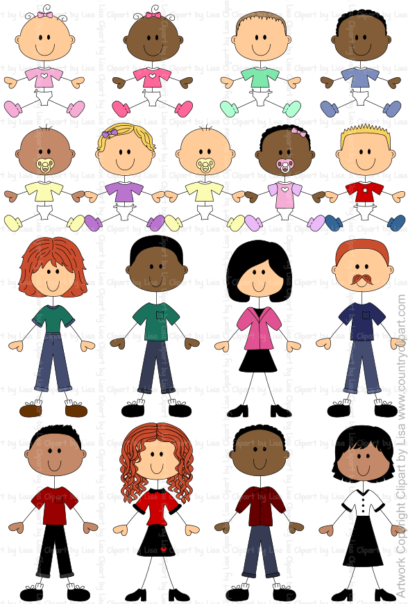 stick figure babies and people graphics and clipart samples 7