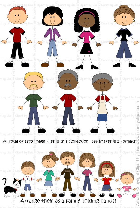 stick figure people family graphics and clipart samples 13