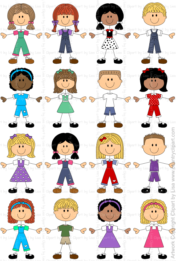 stick figure kids graphics and clipart samples 1