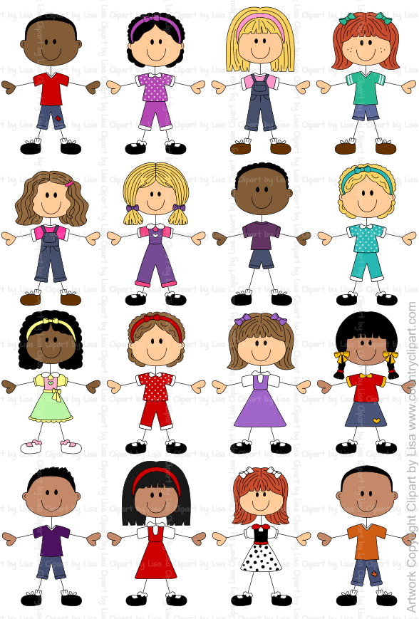 stick figure kids graphics and clipart samples 2