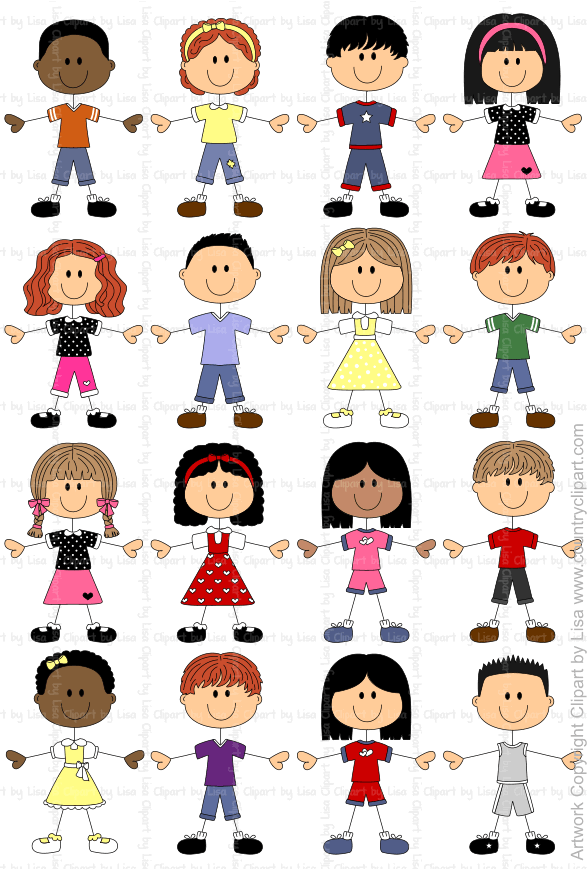 stick figure kids graphics and clipart samples 3