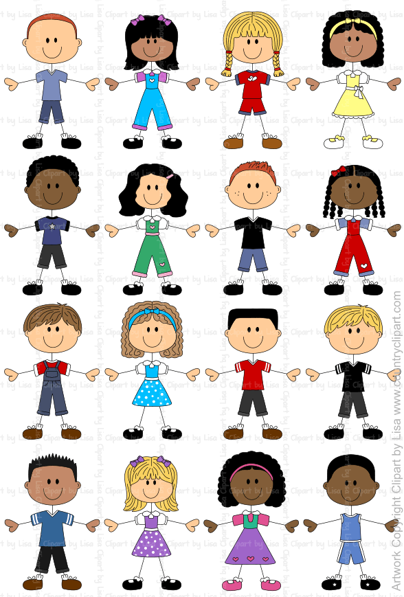 stick figure kids graphics and clipart samples 4
