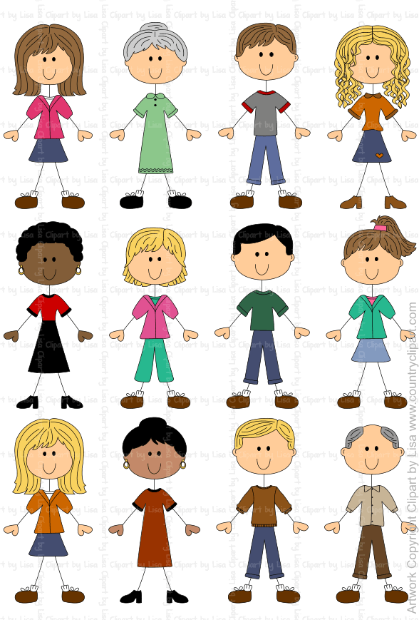 stick figures people graphics and clipart samples 9